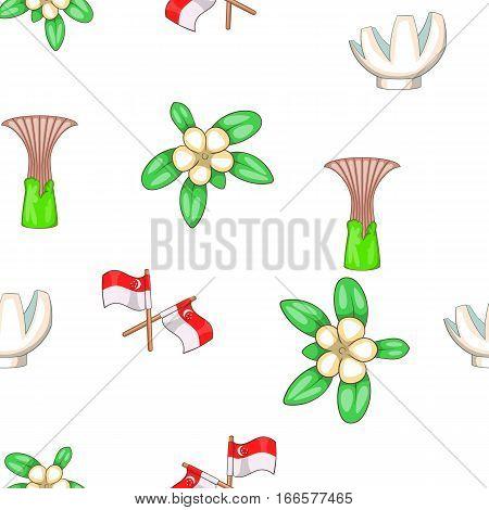 Singapore pattern. Cartoon illustration of Singapore vector pattern for web