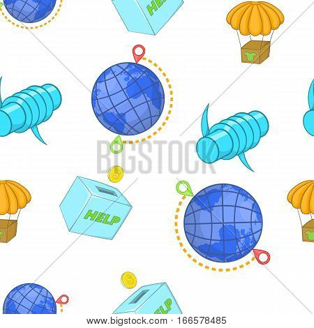 People fugitives pattern. Cartoon illustration of people fugitives vector pattern for web