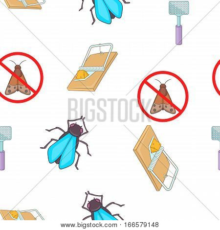 Insects sign pattern. Cartoon illustration of insects sign vector pattern for web