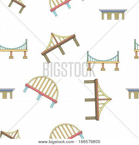 Bridge transition pattern. Cartoon illustration of bridge transitions vector pattern for web