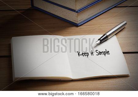 Keep It Simple Word On Book