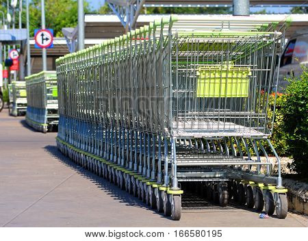 In shopping cart enter the merchandise cart wheels facilities for customers.