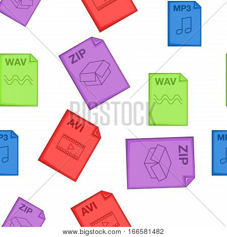Kind of files pattern. Cartoon illustration of kind of files vector pattern for web