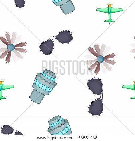 Aircraft pattern. Cartoon illustration of aircraft vector pattern for web