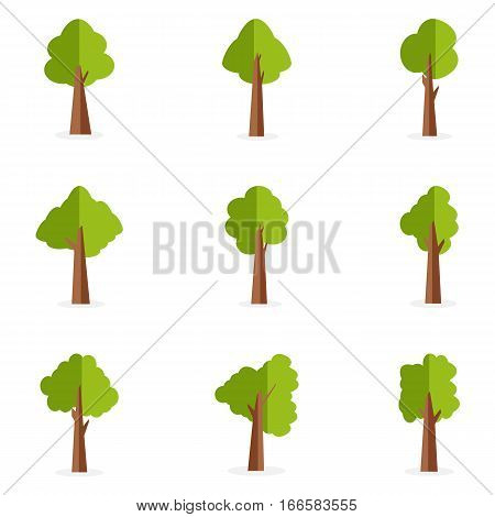 Tree of valious collection stock vector art