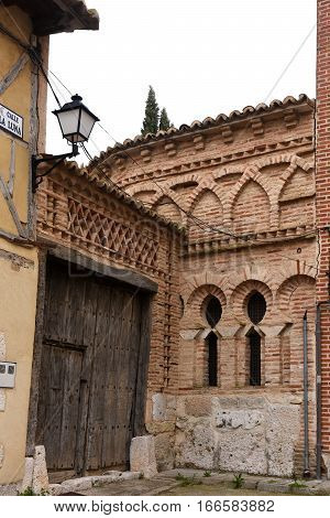 Arab remains in a street of Tordesillas province of Valladolid Castilla y Leon Spain