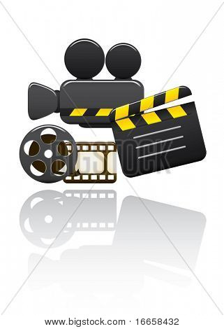 Vector Video Set. Easy To Edit Vector Image.