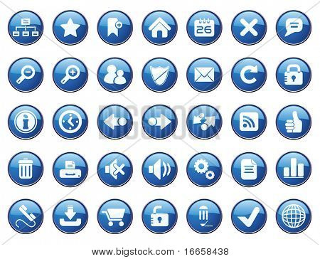 Internet Icon Set. Easy To Edit Vector.