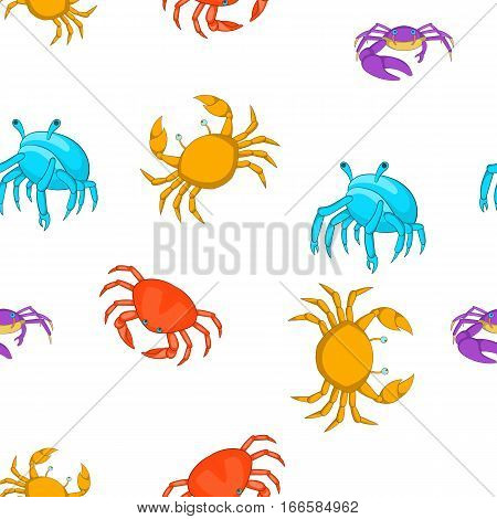 Crayfish pattern. Cartoon illustration of crayfish vector pattern for web