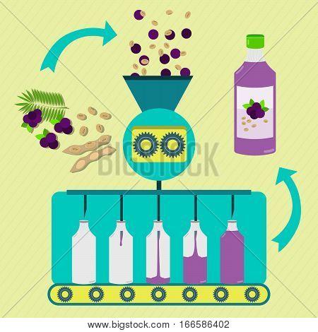 Acai Fruit And Soy Juice Fabrication Process