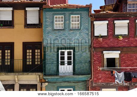 View of some tradicional houses of Porto, Portugal