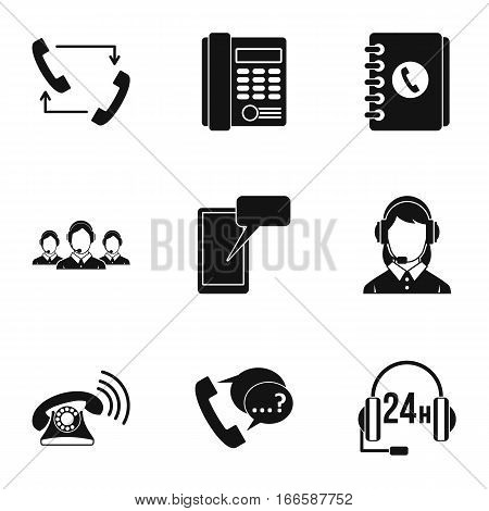 Online consultation icons set. Simple illustration of 9 online consultation vector icons for web