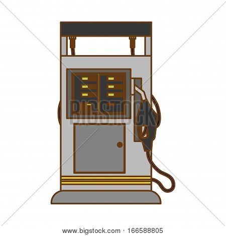 gas pump station gasoline or oil industry related icons image vector illustration design