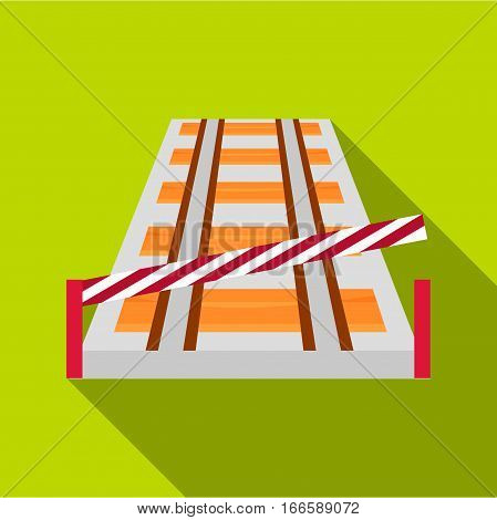 Train barrier icon. Flat illustration of train barrier vector icon for web design