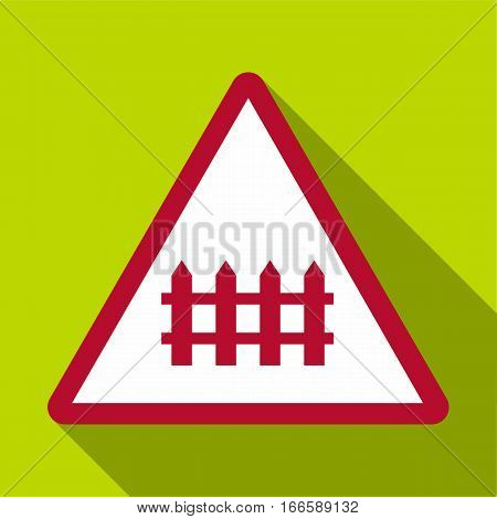 Warning sign icon. Flat illustration of warning sign vector icon for web design