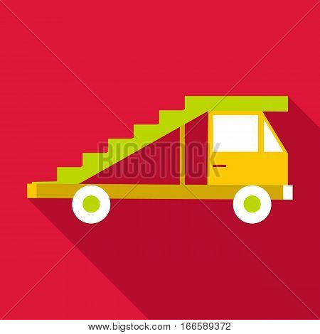 Passenger gangway icon. Flat illustration of passenger gangway vector icon for web