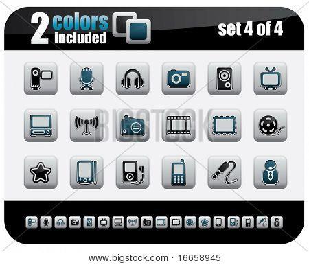 Web Icons Set. Steelo Series. Set 4 of 4.
