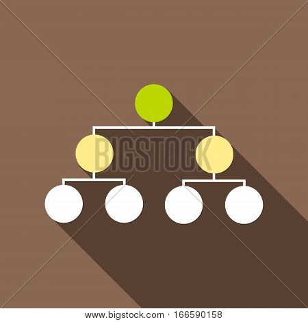 Organizational chart infographic icon. Flat illustration of organizational chart infographic vector icon for web design