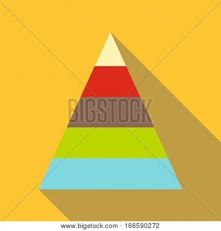 Stacked pyramid icon. Flat illustration of stacked pyramid vector icon for web design