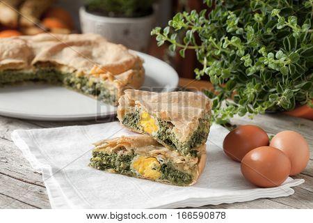 Eggs Chard Savory Pie