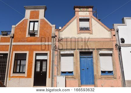 View of the Architecture in Aveiro Beiras region Portugal