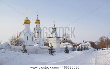 Archistrategos Mikhail church in Novosibirsk. Russian Federation