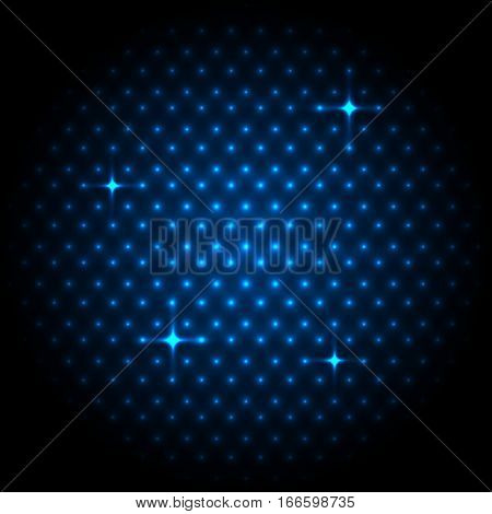 Abstract global with blue dots background, stock vector
