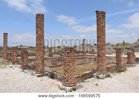 Roman ruins of the ancient city of Conímbriga Beiras region Portugal