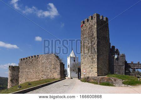 Walls and San Miguel church (15th century)Penela Beiras region Portugal