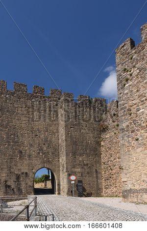 Walls of Castle of Penela Beiras region Portugal