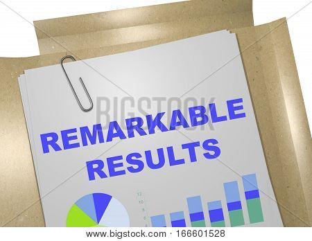 Remarkable Results - Business Concept