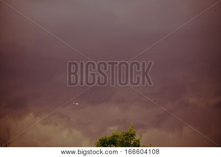 Dark Grey Storm Clouds Filtered