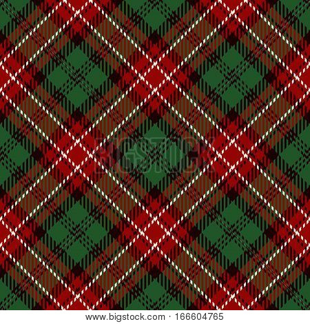 Tartan Seamless Pattern Background. Red White Black and Green Plaid Tartan Flannel Shirt Patterns. Trendy Tiles Vector Illustration for Wallpapers.