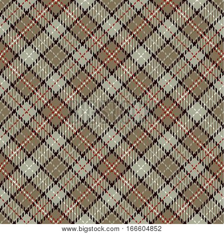Tartan Seamless Pattern Background. Red Beige Black and White Plaid Tartan Flannel Shirt Patterns. Trendy Tiles Vector Illustration for Wallpapers.
