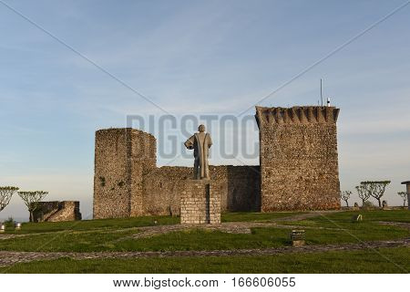 Sunset of the Castle of Ourem Beiras region Portugal