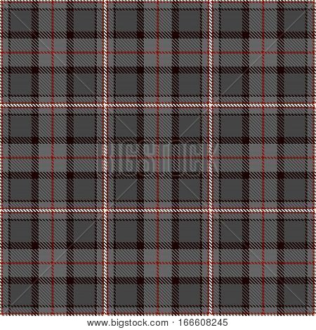 Tartan Seamless Pattern Background. Red Black Gray and White Plaid Tartan Flannel Shirt Patterns. Trendy Tiles Vector Illustration for Wallpapers.