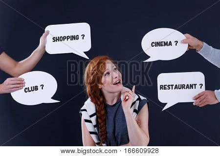 Woman With Speech Bubbles