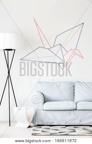 Creative Origami Crane On The Wall