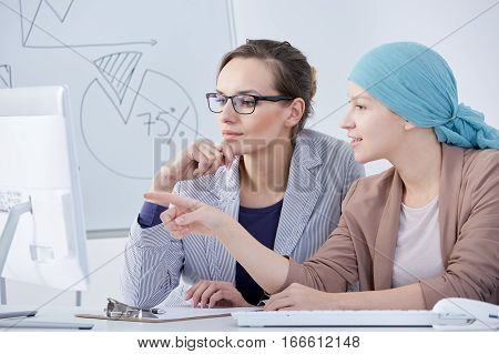 Cancer Woman Leading Normal Life