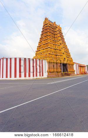 Jaffna Nallur Kandaswamy Kovil Gopuram Tower