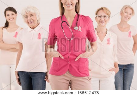 Group Of Women And Cancer