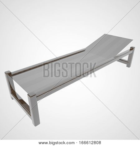 Deckchair Isolated Over White Background
