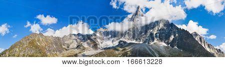 Panoramic View Of Chamonix-mont-blanc