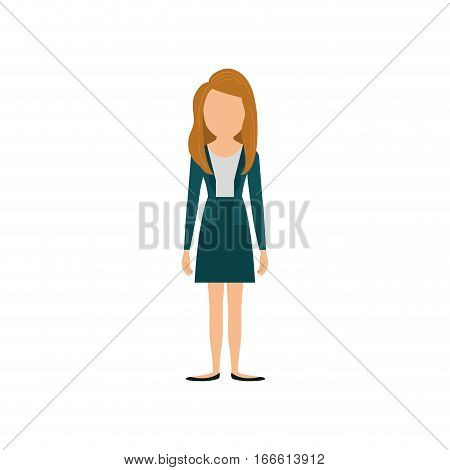 business executive woman icon vector illustration graphic design