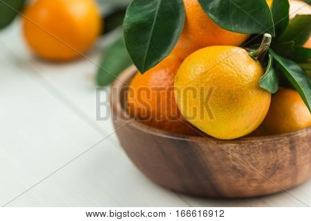 Tangerins In A Bowl