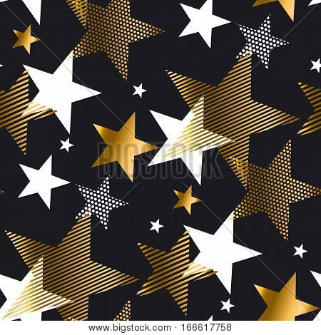 triangle red and gold luxury pattern for greeting card. geometry arrow festive