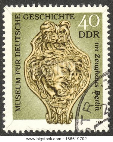MOSCOW RUSSIA - CIRCA DECEMBER 2016: a post stamp printed in the DDR the series
