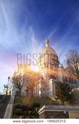 The Basilica of Sacre-Coeur Montmartre . Paris.