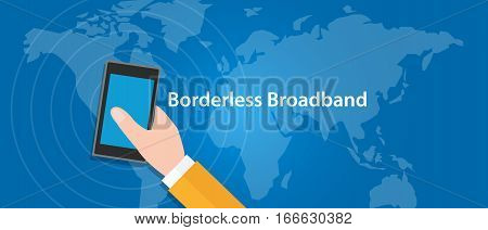 border-less broadband 5G connect eveywhere around the world vector