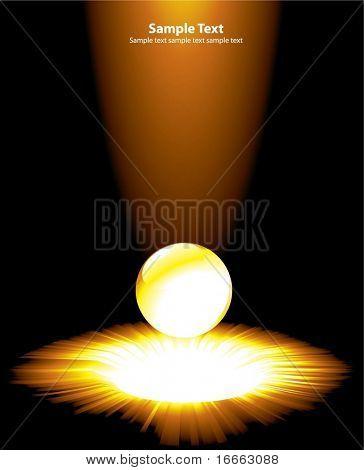 Vector light burst with crystal ball